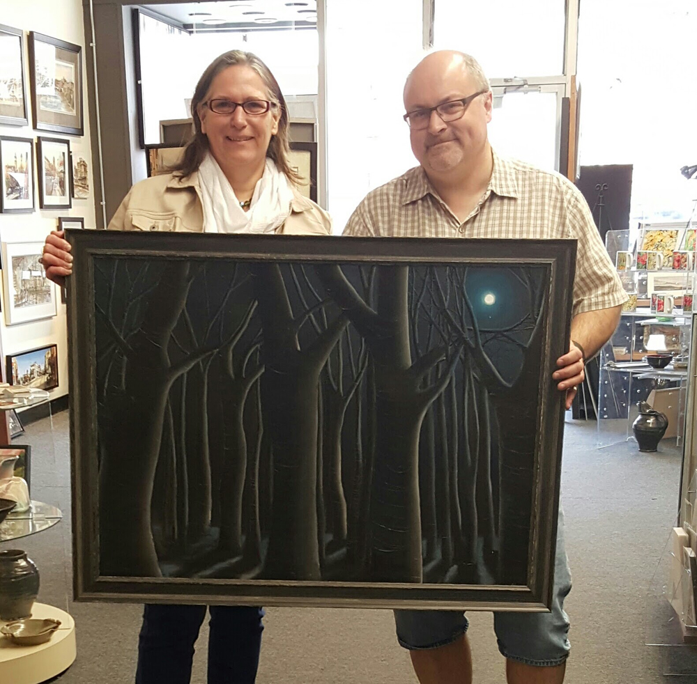 Custom framing by Krajewski Gallery of original art by Canadian artist