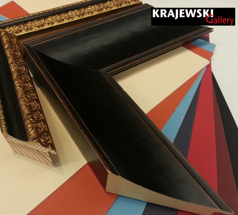 examples of traditional ornate gold and silver frame samples available at Krajewski Gallery