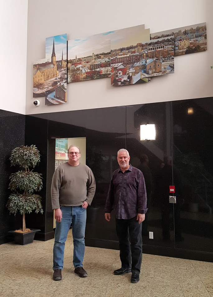 Alex Krajewski and Lone Wolf and Galt 3D Panorama at Lone Wolf headquarters in Cambridge Ontario