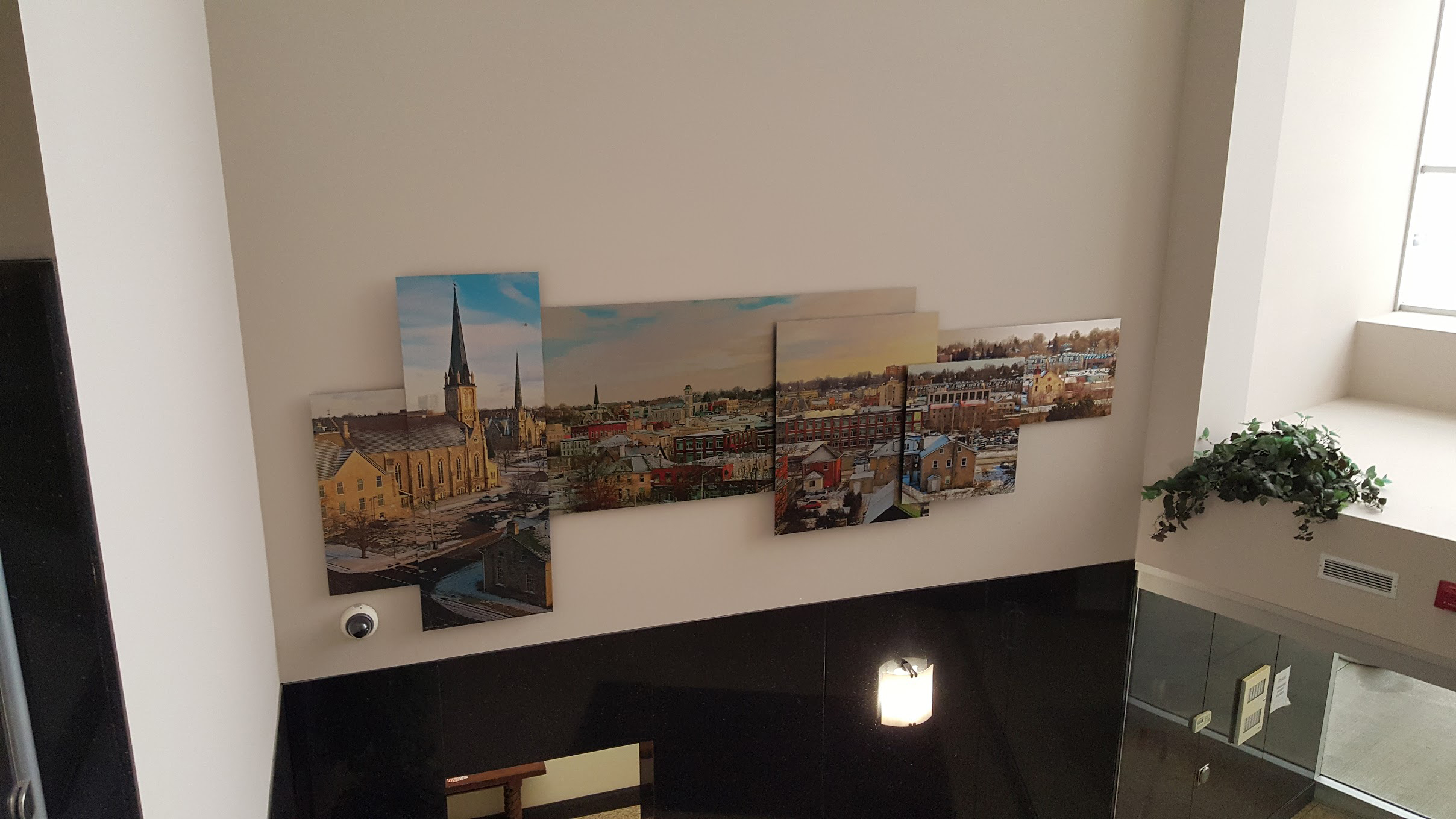 3D panoramic view of Galt layered on brushed aluminum - corporate art by Alex Krajewski