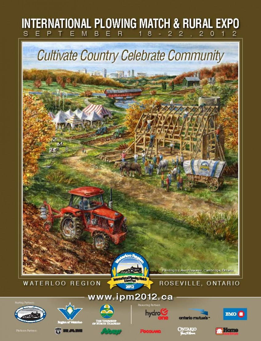 Plowing Match promotional poster featuring commissioned painting by Alex Krajewski for 2012 Plowing Match poster