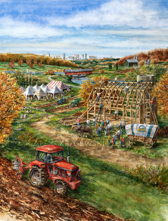 Plowing Match-commissioned painting by Alex Krajewski for 2012 Plowing Match poster