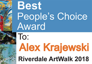 Best People's Choice Award at Riverdale ArtWalk 2018