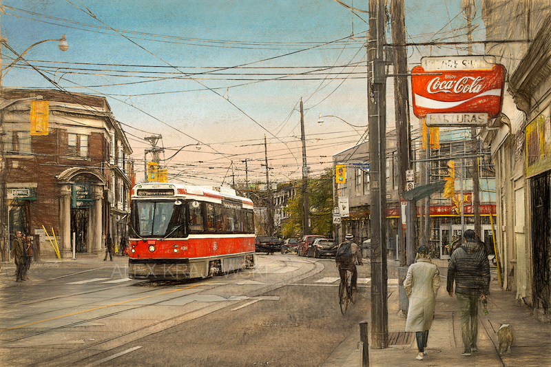 Toronto- Ossington and Dundas by Alex Krajewski