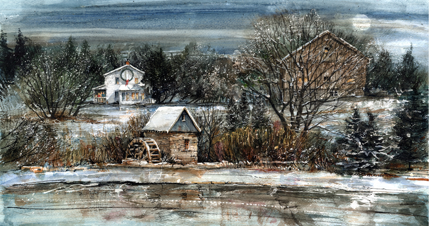 Winter In Churchill Park - commissioned house portraits by Alex Krajewski