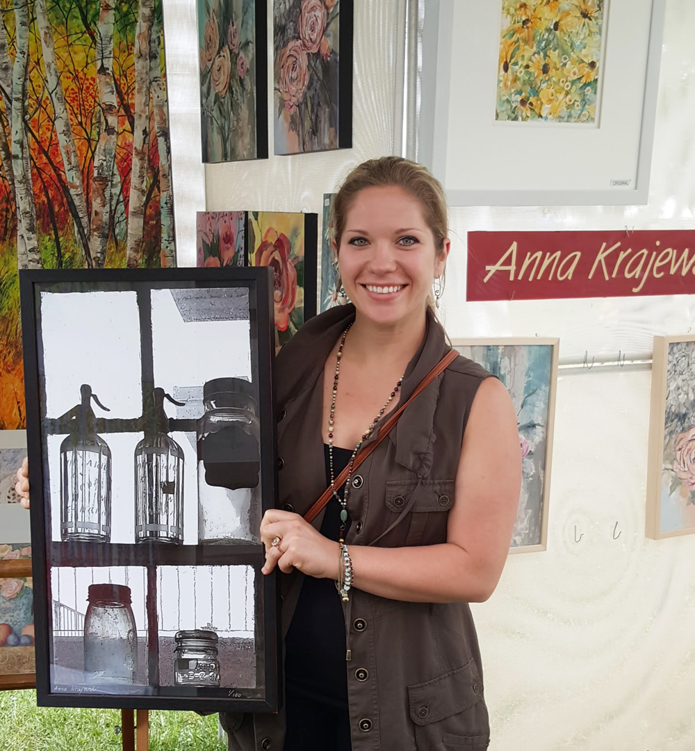 Canadian artist Anna Krajewski's happy customer