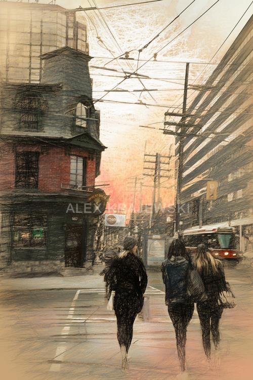 Girls Crossing - Bathurst St. Toronto, ON - Krajewski