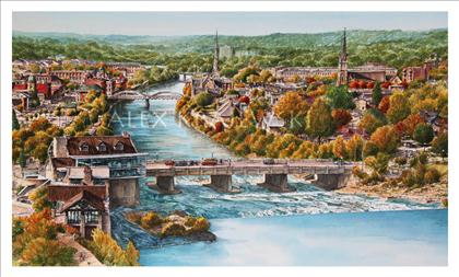 Cambridge Panorama - Original - SOLD - Krajewski