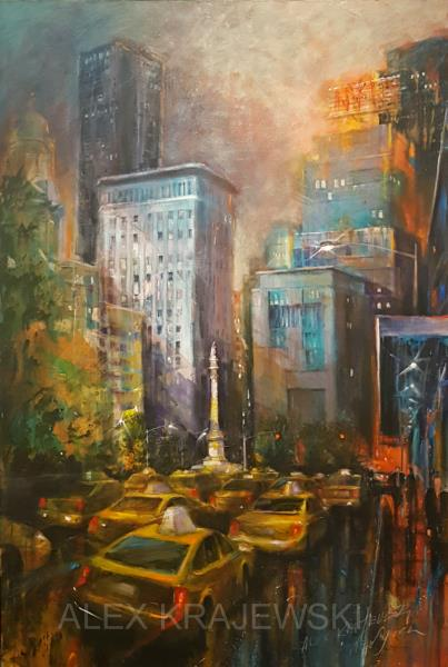 New York - Columbus Circle - ORIGINAL - Krajewski
