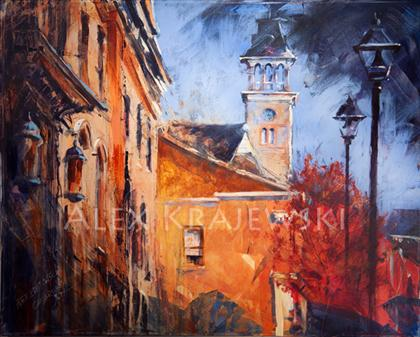 Dickson Street View - Cambridge- ORIGINAL -SOLD - Krajewski