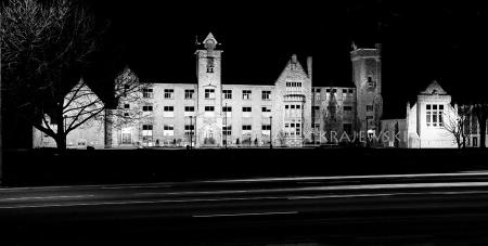 GCI by Night B&W - Krajewski