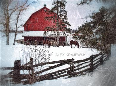 Little Red Barn in Winter - Krajewski