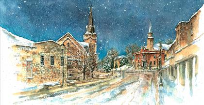 Winter on Queen Street - Krajewski