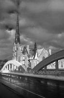 Central Church and Main Street Bridge Black & White