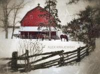 Little Red Barn in Winter - Sepia
