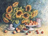 Peaches and Sunflowers