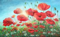 Poppies in the Sun - ORIGINAL