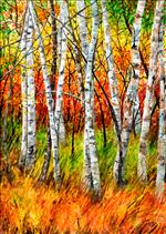 Birches ORIGINAL (vert) SOLD