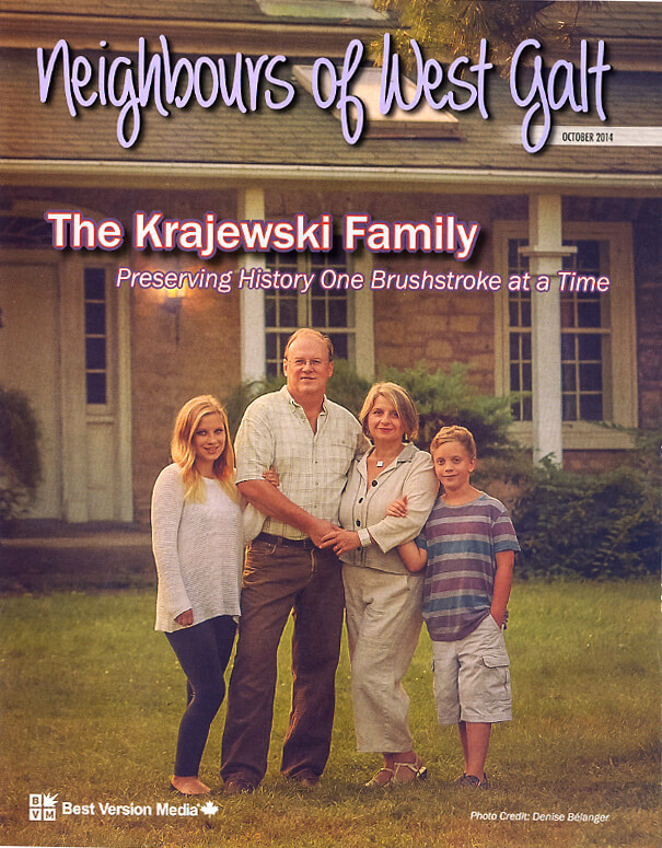 Meigbours Of West Galt Magazine Cover Featuring Alex & Anna Krajewski